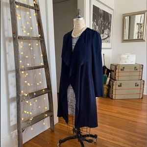 NWT-Navy blue trenchcoat by Lucy Paris